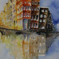 Mischtechnik auf Leinwand<br />Amsterdam50x70Fr. 750