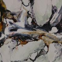 Mischtechnik auf Leinwand<br />Höhlen-Labyrinth50x60Fr.700