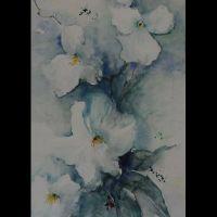 Mischtechnik auf Leinwand<br />Orchidee30x80Fr. 550